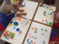 playdough shaping letters fun at nursery